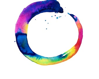 """Enso painting, Zen Circle Art, Abstract, Spiritual Giclee archival print from original """"Enso Abstraction 16"""" by Kathy Morton Stanion EBSQ"""