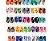Colorful baby shoe art print Rainbow nursery wall art 5x5 photography Baby's first shoes Baby shower gift gender neutral Fits ikea ribba