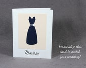 CUSTOM Bridesmaid Thank You Card/ Wedding Thank You Card With Name/Bridal Party Thank You Card/Maid of Honor Card/Jr Bridesmaid Card