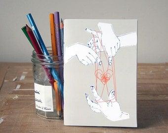Cat's Cradle Notebook - Jotter - Unlined Notebook - A6