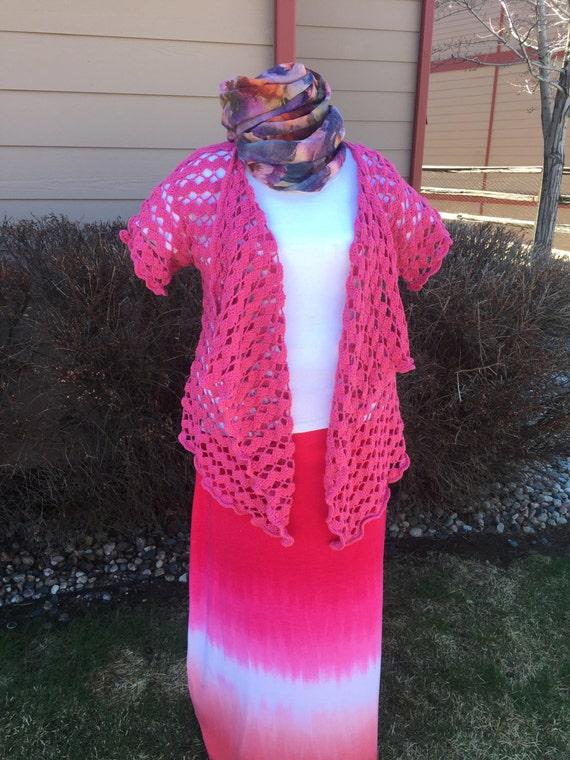 Trellis Waves Lace Cardigan Crochet Pattern