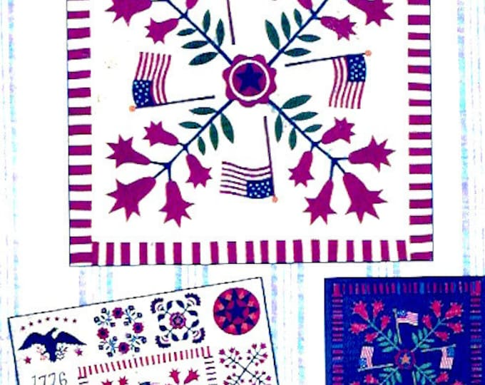 America Quilt block USA Land of the Free 12 of 12 Centre Medallion Quilt block with Fabric Quilting cotton Independence day project
