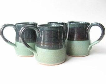 Stoneware Coffee Mugs Set of 4