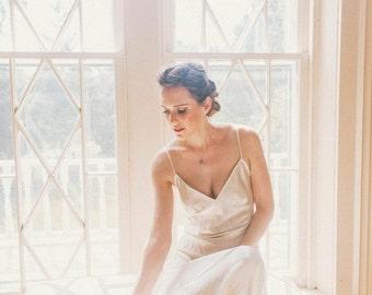 Lavinia gown- silk bride bridal long dress chemise in ivory satin charmeuse- luxury bias-cut retro lingerie, vintage gowns, wedding weddings