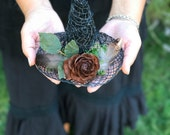 Woodland Witch Hat Fascinator, Witches Mini Hat, Nature Woodswitch