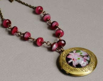 In the Pink Photo Locket Necklace by Happy Shack Designs