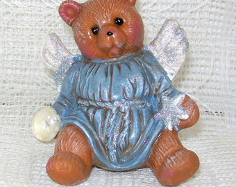 Angel Bear / Handmade Ceramics / Angel Figurine / Bear Statue / Handmade Ceramics / Moon Bear / Animal Statue / Ceramic Angel / Angel Gift