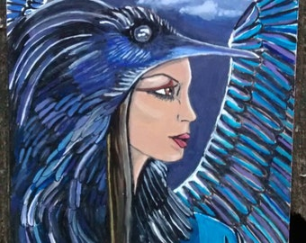The Morrigan Raven Goddess Moon Gift Card Free Shipping in United States