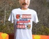 vintage new 80s t-shirt san francisco 49ers cincinnati bengals nfl football superbowl 1989 tee Medium Large soft deadstock