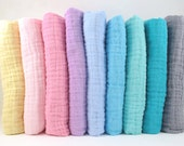 Double Gauze Fabric - Embrace Double Gauze Fabric in Solid Colors - muslin swaddle fabric by the quarter yard