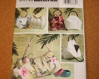 Uncut FF Butterick 4148 Pattern - 3 Purse Styles and Cosmetic Bag