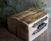 Steel and Maple Rugged Rustic Natural Wooden Trinket Ring Box by Tanja Sova