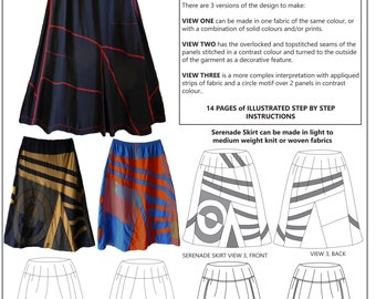 Serenade Skirt, womens PDF sewing pattern