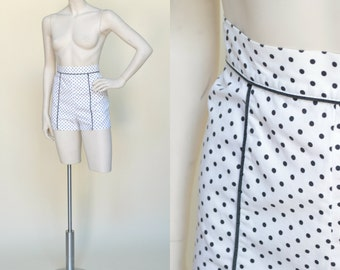 1950s Jantzen Hot Pants --- Vintage Polka Dot Shorts