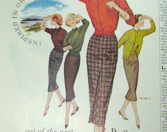 Pendleton Clothing 3/4 Page Vintage Advertising Wall Art Decor E127