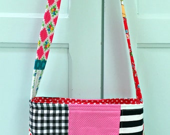 Asymetrical Patchwork -- Tote Bag