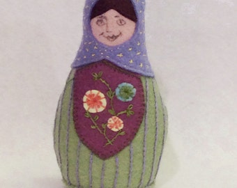 Bettina, Matryoshka Doll Pattern, PDF Pattern, Instant Download, Cloth Doll Pattern, PDF Sewing Tutorial, Babushka Doll Pattern, Softie