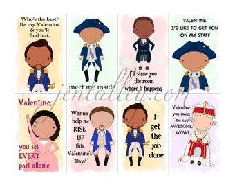 Hamiltine Series 2 Printable Digital Download Valentine Cards