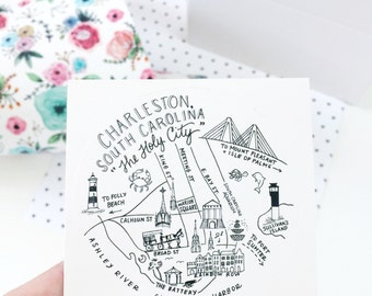 "Charleston, South Carolina 3"" Stickers"