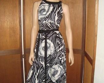 OP Art Maxi Dress Criss Cross Back