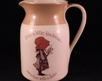 Vintage 1978 Holly Hobbie Country Living Earthenware Pitcher