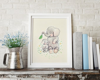 Mothers love - PRINT - Nursery art - Nursery decor - Kids room decor - Children's art - Children's wall art - kids wall art