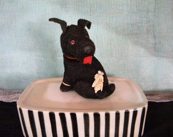Vintage Wind Up Dog with Celluloid Bumble Bee on Rear