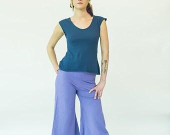 Size XL // Culottes // Stretch Hemp & Organic Cotton // Gauchos // Capri // Eco Fashion // Extra large // US 14-16+
