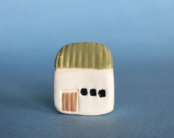 Irish Cottage  Collectible Ceramic Miniature Clay House