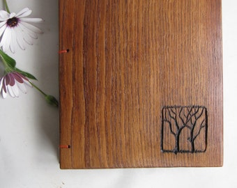 Woodland guest book Wood covers Two Trees Nature wedding
