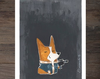 "Corgi ""Corg Solo"" Art Print"