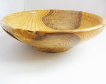small bowl or trinket dish turned from yew