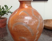 Beautiful Rotund Bottle with Combed Decoration