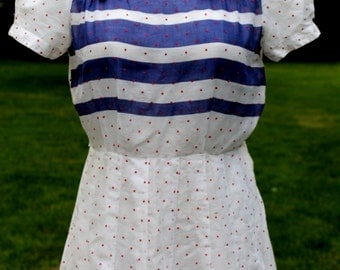 1940s Stars and Striped Dress