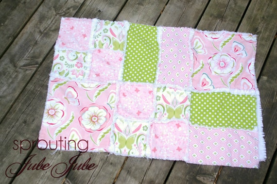 Rag Quilt PATTERN Baby blanket, Crib Bed, SEWING Instructions Instant Download - Ashlyn Rag Quilt Pattern Blocks and Rectangles - Simple Sew