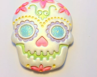 Sugar Skull Day of the Dead Ornament or Decoration