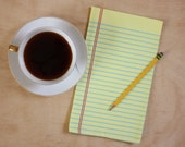 """Yellow Lined """"Paper"""" Towel - Decorative Cotton Tea Towel // Legal Pad // Lined Paper // Notebook // Lawyer // Pencil"""