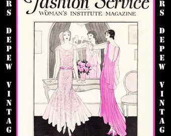 Vintage Sewing Magazine November, 1929 Fashion Service Dressmaking Sewing and Fashion E-book -INSTANT DOWNLOAD-