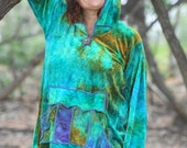 Lush Bamboo Velvet Ocean hug hoody with pouch pocket and thumbholes