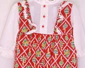 Vintage toddler girl maxi dress christmas 24 months