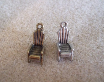 Adirondack Chair Charms- set of 7 ANTIQUED GOLD ONLY