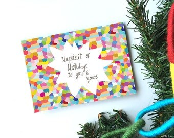Happiest of Holidays card cc204