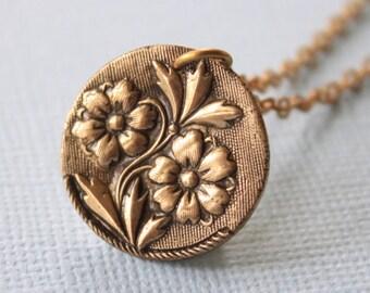 Flower Pendant, Forget Me Not Pendant