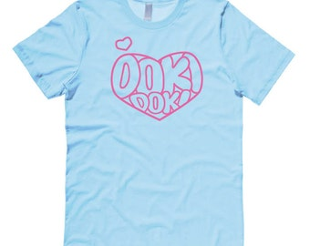 Pastel Blue Shirt Kawaii Aesthetic cute heart tshirt - Doki Doki - Japanese clothing kawaii fairy kei sweet lolita