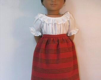 1824-1008, Skirt for 18 Inch American Girl Doll Josefina