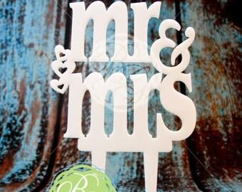 Wedding Cake Topper- Mr & Mrs
