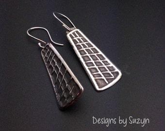 Earrings, silver,handmade,designsbysuzyn, dangle, lightweight