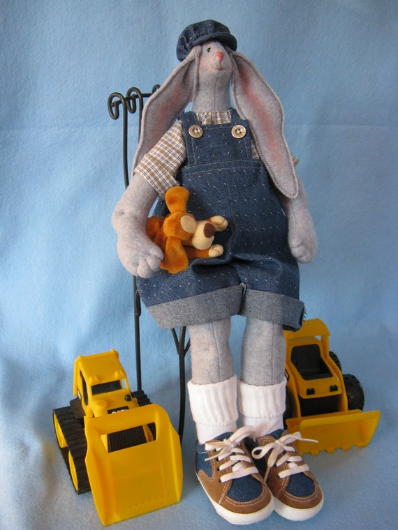 Mailed Cloth Doll Pattern 19inch Big Boy Bunny Rabbit