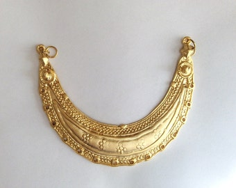 1 pc Matte 22K Gold Plated Base  Necklace Bar - Bib Necklace 100x60 mm-(006-047)