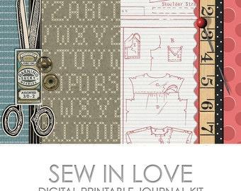 Sew in Love Digital Printable Junk Journal Kit